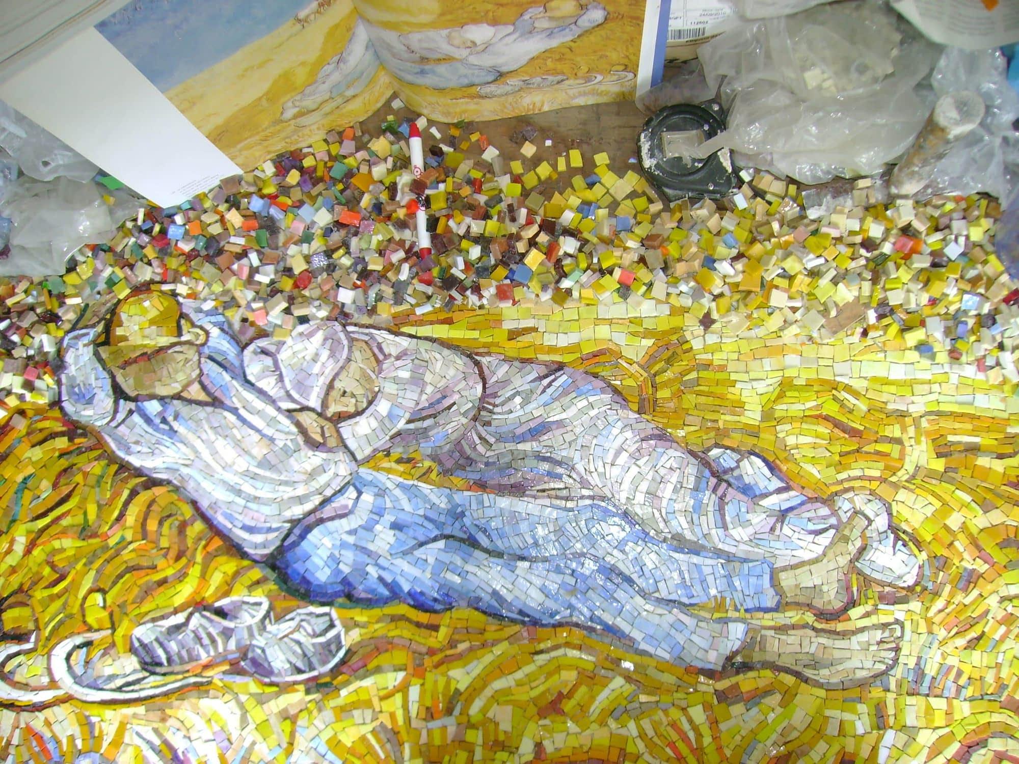 van gogh mosaic work in progress