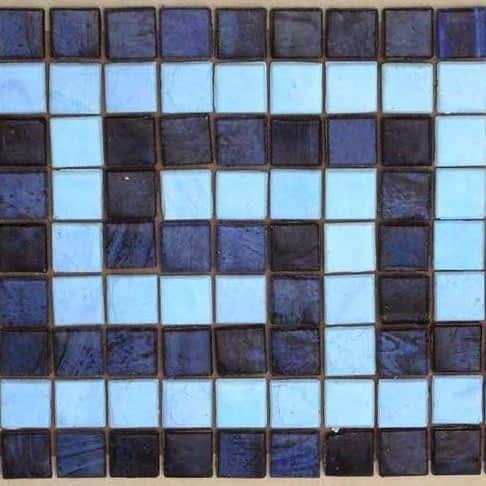 Greek Key Border mosaic color choices