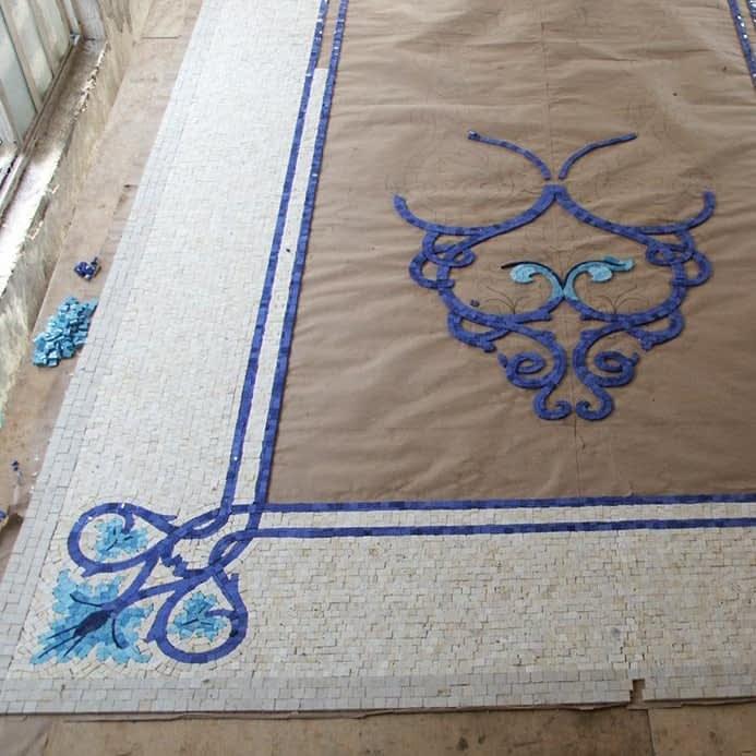 mclain fabrication mosaic rug