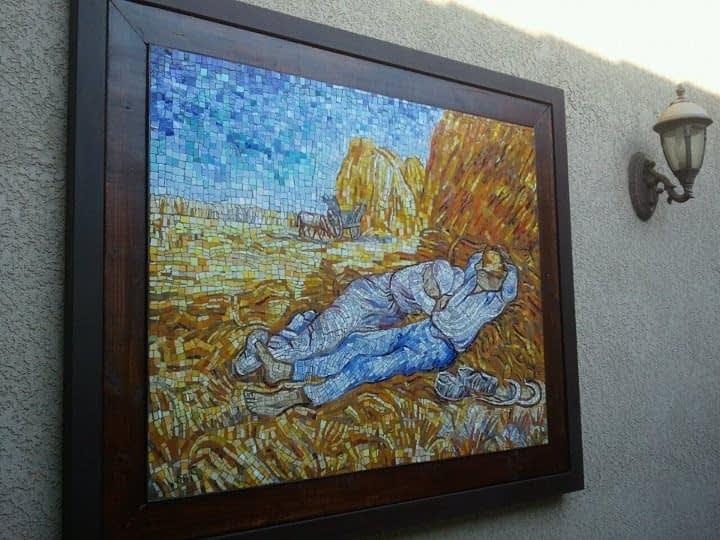 Mosaic mural frame by Studio Steel