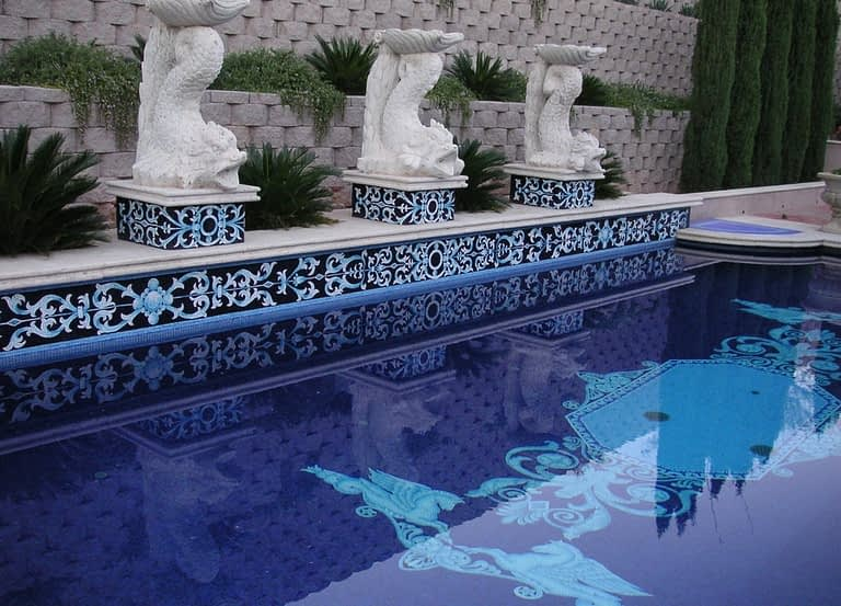 Bixenman All tile Pool Mosaic Venetian Design