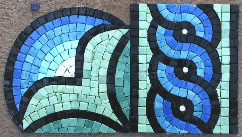 mosaic sample for thompson geometric mosaic tile design