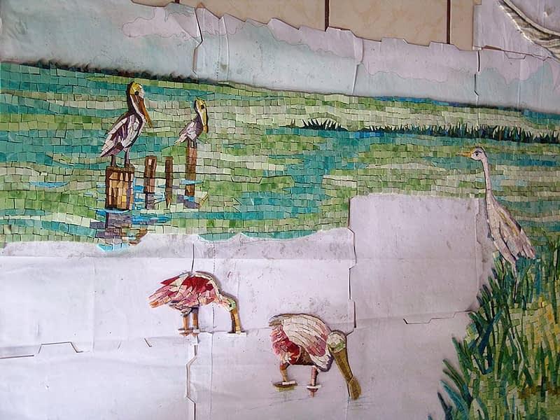 Gulf of Mexico Mosaic glass wall art Kitchen Back Splash