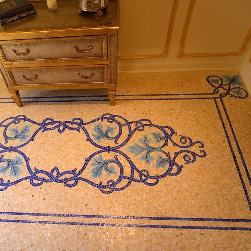 Mosaic installation of Mosaic Rug Foyer