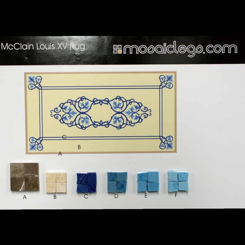 Mosaiclegs Projects Sample Colors for Mclain Rug