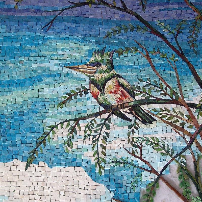 King Fisher Mosaic work in progress Kitchen Backsplash