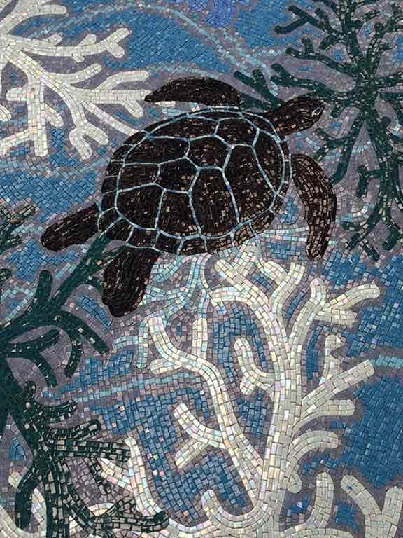 Turtles and coral mosaics